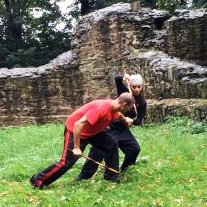 Escrima Waffenkampf-Training Mirko und Kerstin